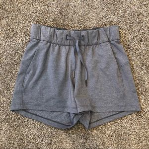 Lululemon Gray On The Fly Shorts